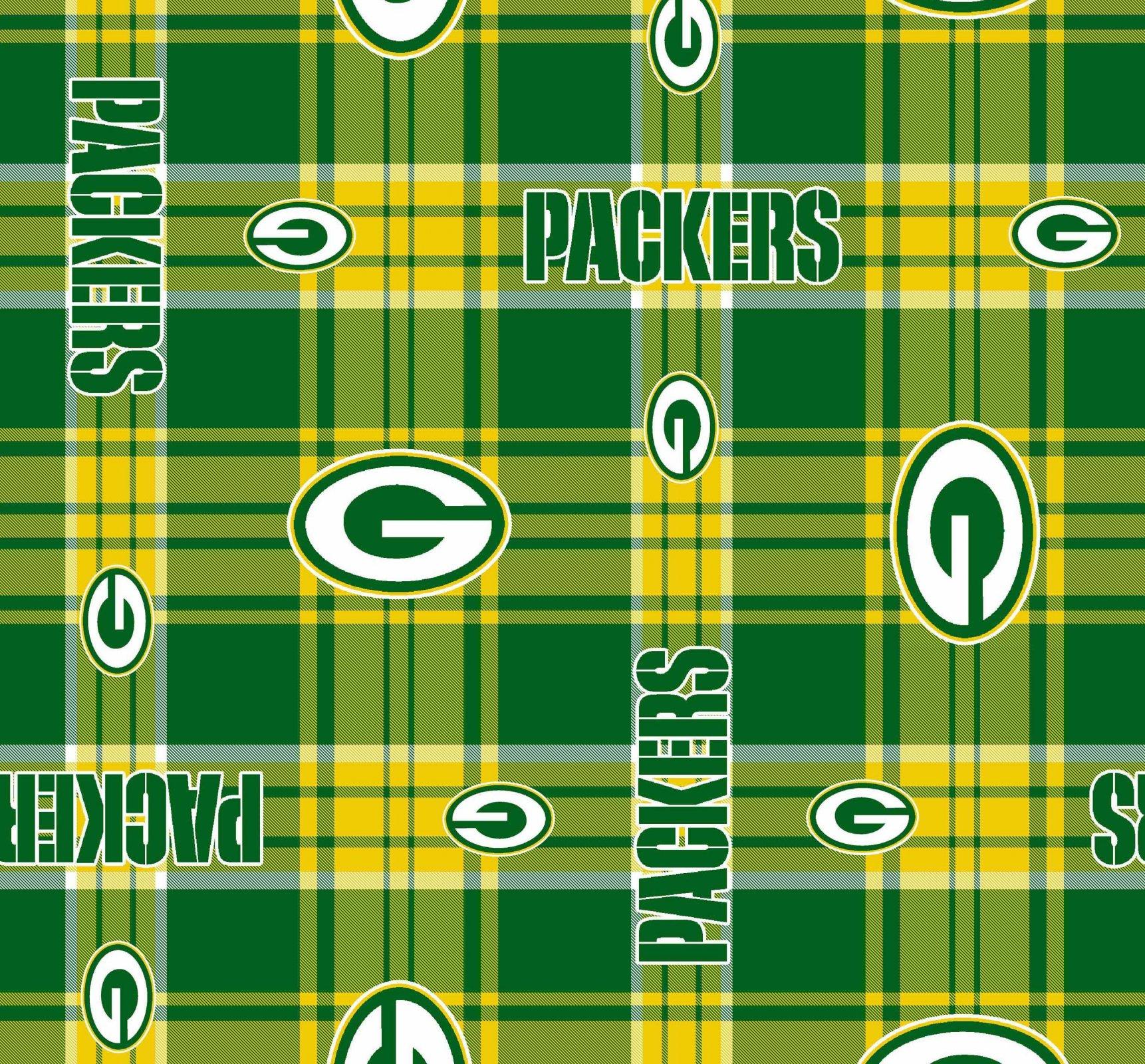NFL Fleece 6392-D Green Bay Packers FLEECE Plaid (20J)