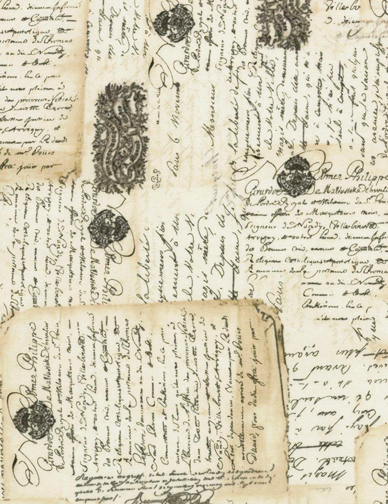 Library C6893 Latte Fancy Scroll