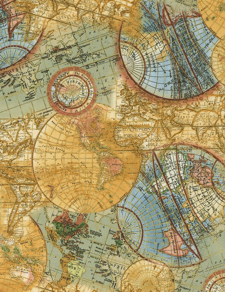 CM6894 Globe - Atlas w/Metallic
