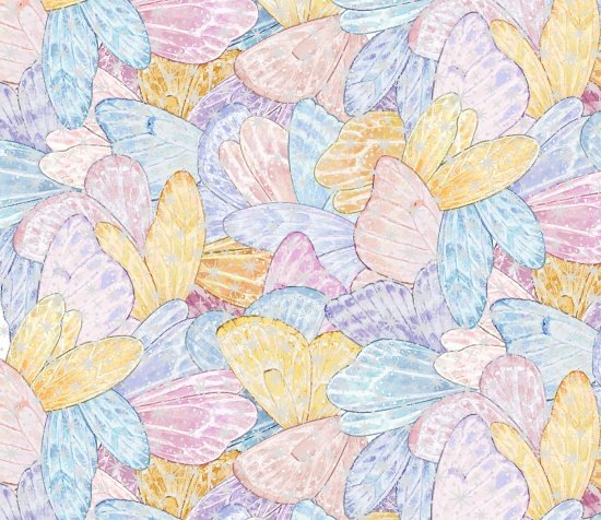 Pastel Butterfly WIngs with Silver Metallic Accents:  Angels & Fairies by Ami Morehead for Elizabeth's Studio