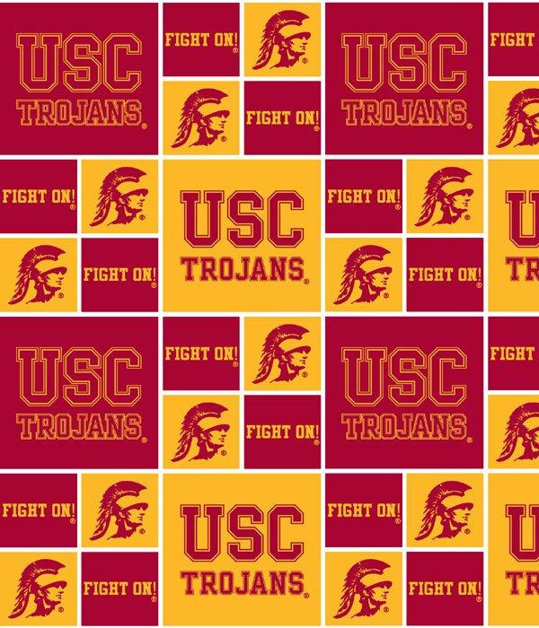 USC Collegiate Logo Cotton Fabric