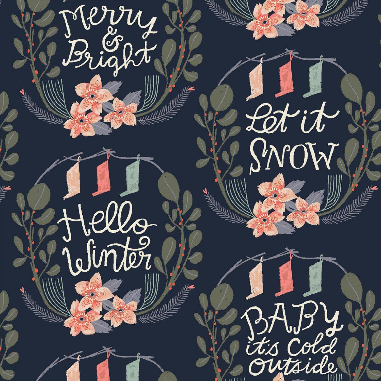DS-Let It Snow Lettering Vignette - Pacifica
