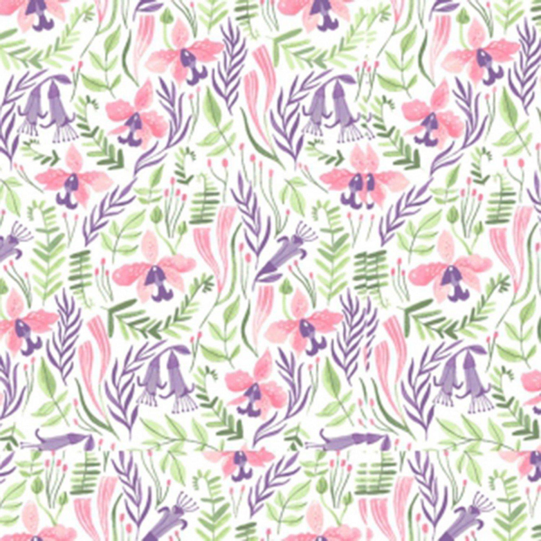DS-Pink Paradise SRR1030 Orchids - White
