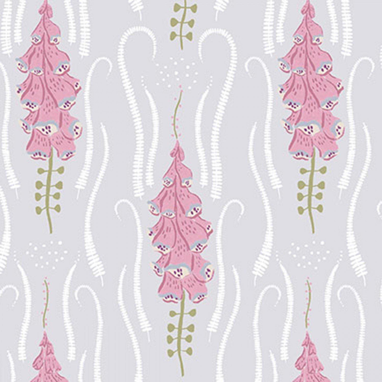 DEARS- Garden Sanctuary Pink Foxglove on Nickel