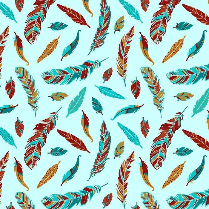 Whimsy Feathers DT61787C Lt Turq/Multi David Tetiles