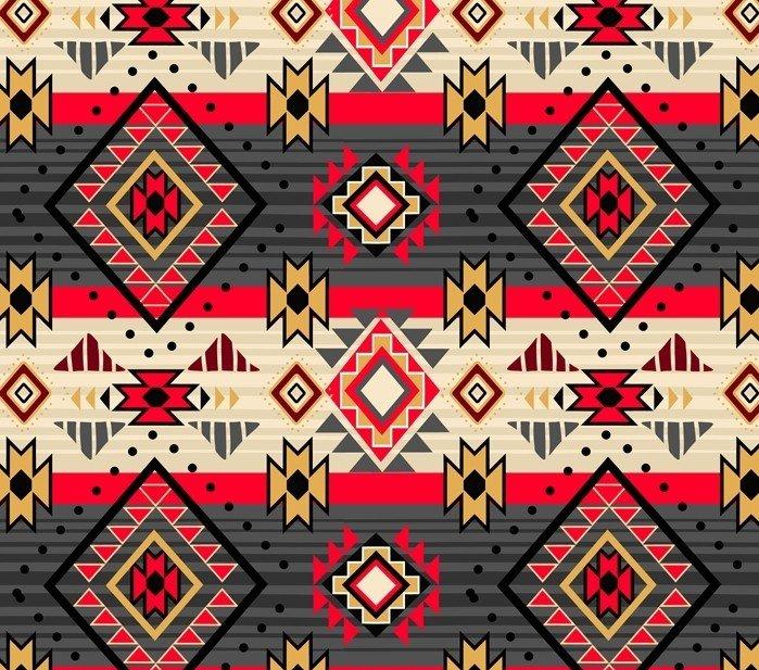 NATIVE DIAMONDS Gray/Red Stripe DX12119C David Textiles