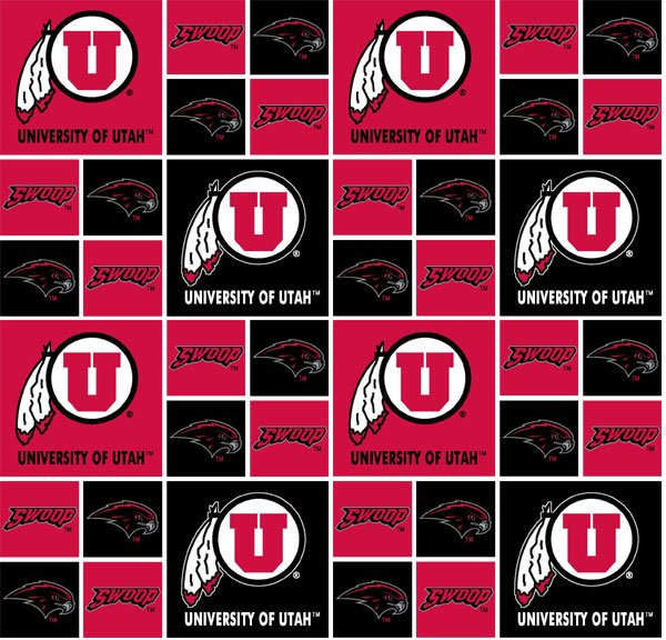 Utah University of UTA-020 Cotton/Block