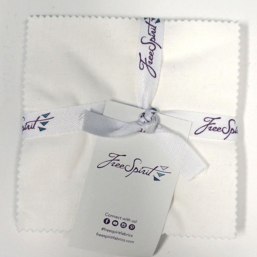 Designer Essentials Solids -Arctic White -  5 X 5 Charm Pack  42 Pieces