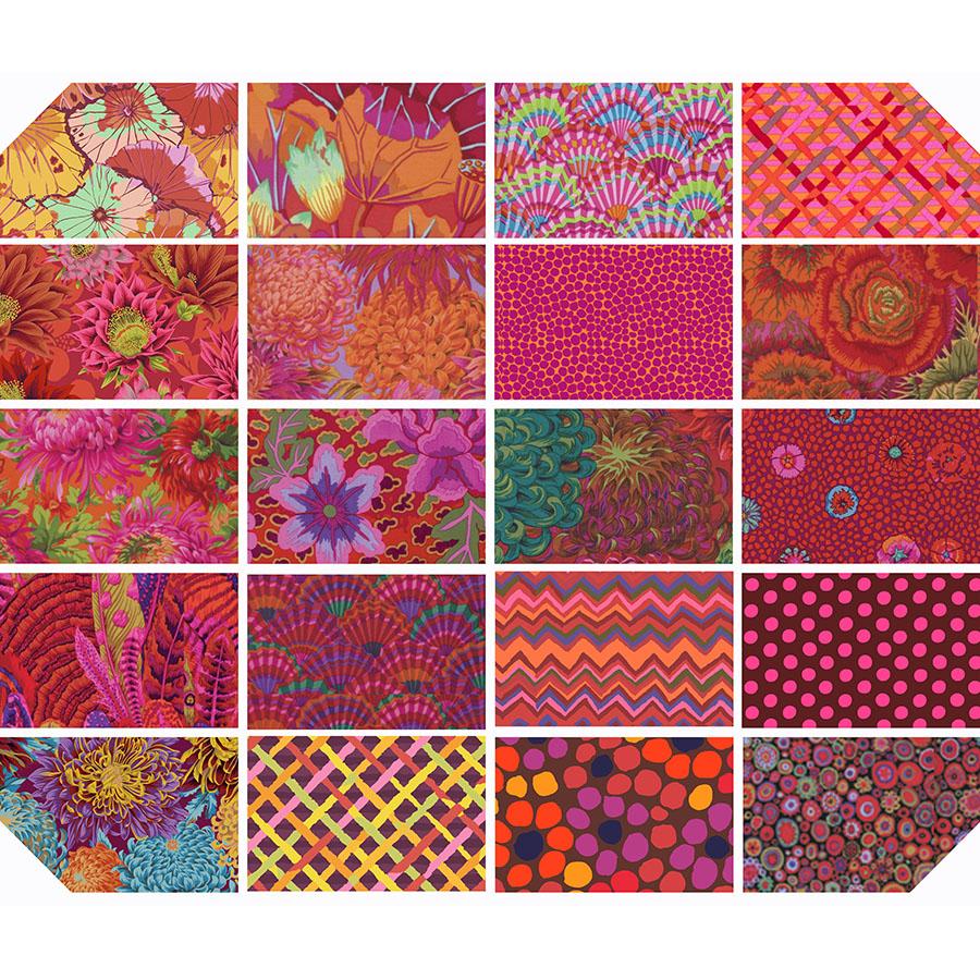 Kaffe Fassett Collective Classics - 10 42 Piece Pack - Equator Colorway