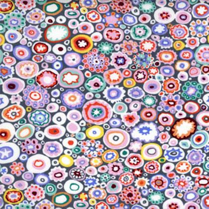 Paperweight in Pastels on Gray  - by Kaffe Fassett for FreeSpirit Fabrics