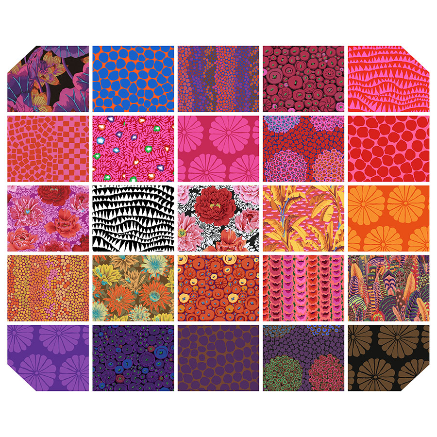 Kaffe Fassett Collective 2021 -6 Design Strip- Hot