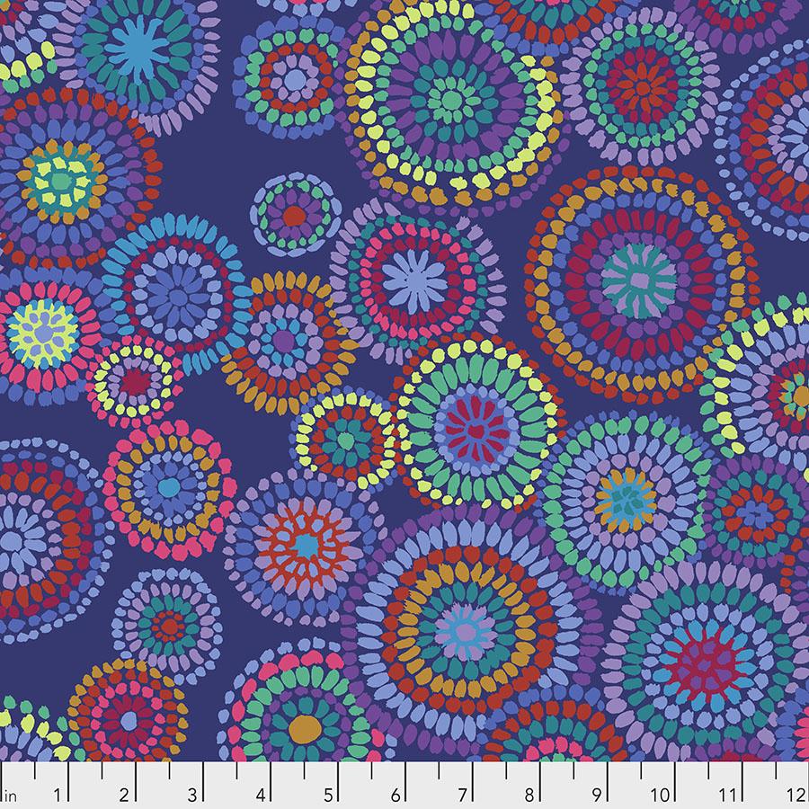 Mosaic Circles - Blue Kaffe (Border for Holiday Sensation Mystery by Michelle Hiatt)