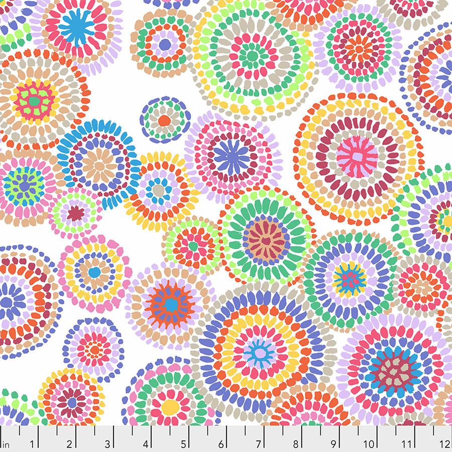 Kaffee Fassett Mosaic Circles - White