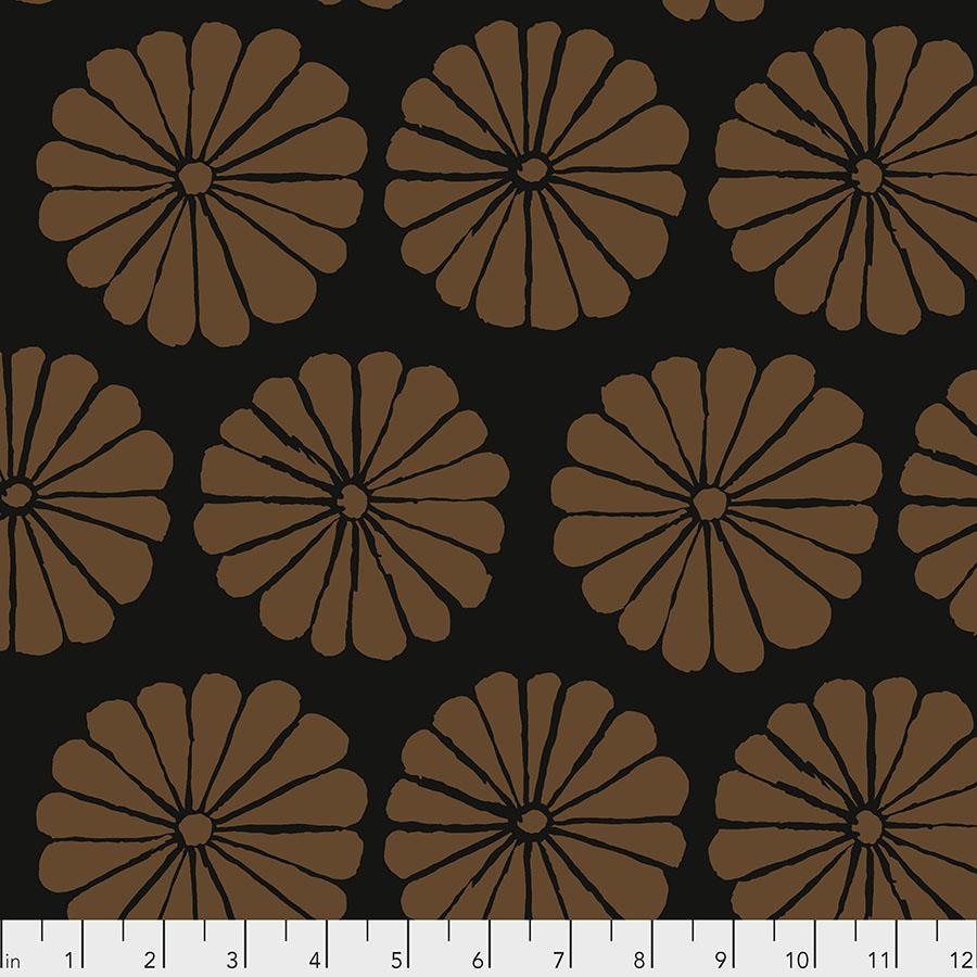 Damask Flower - Brown