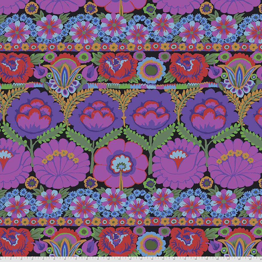 Embroidered Flower - Purple