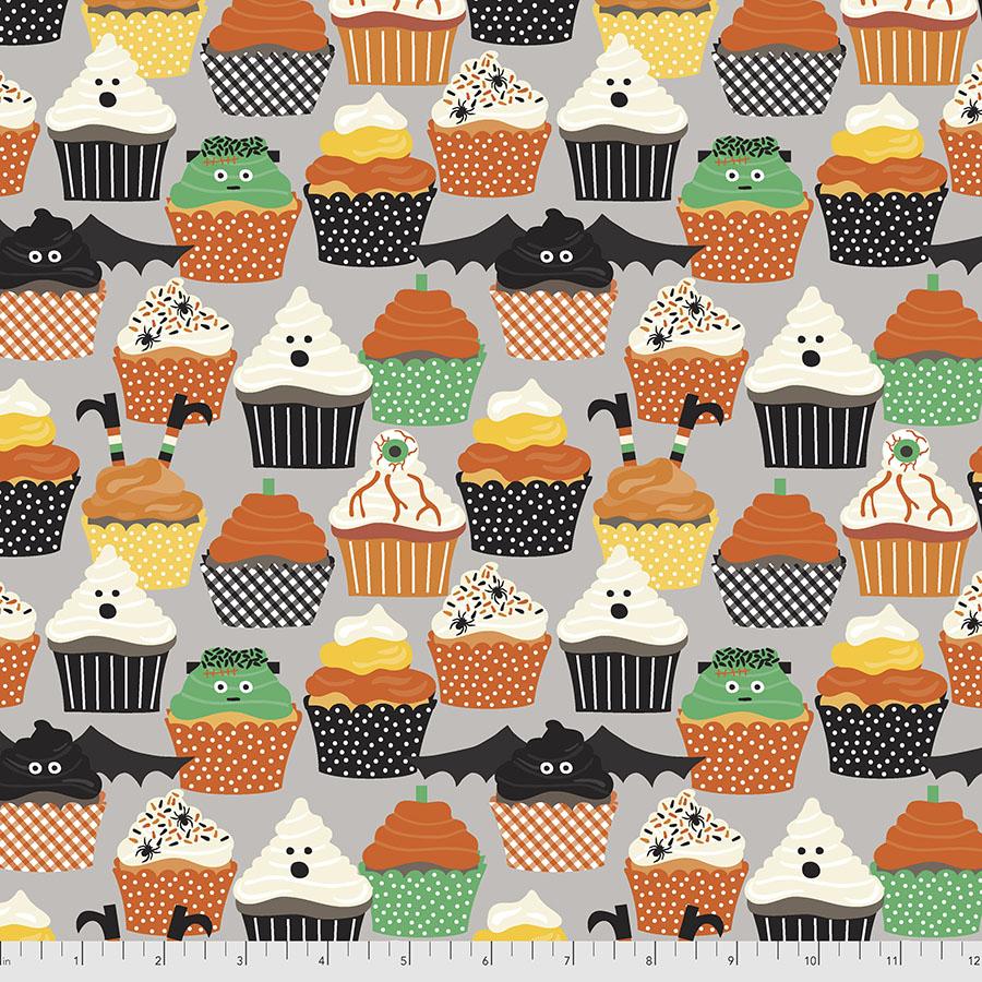 PWMA003.XGREY Grey Frankencakes Boolicious FreeSpirit Fabrics