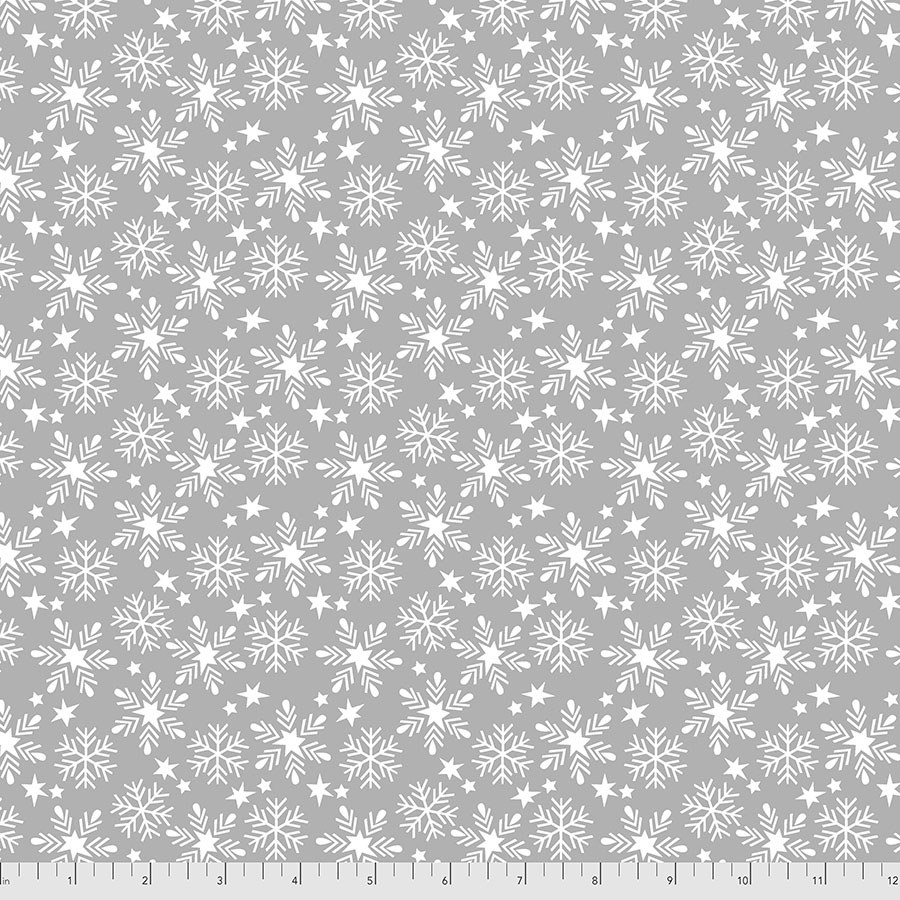 Snowfall - Grey - Fa La La by Maude Asbury for Free Spirit Fabrics