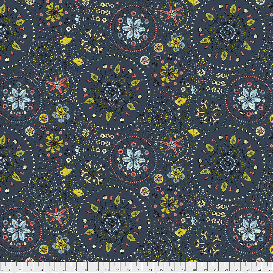 Enchanted Forest Fairy Circles Navy