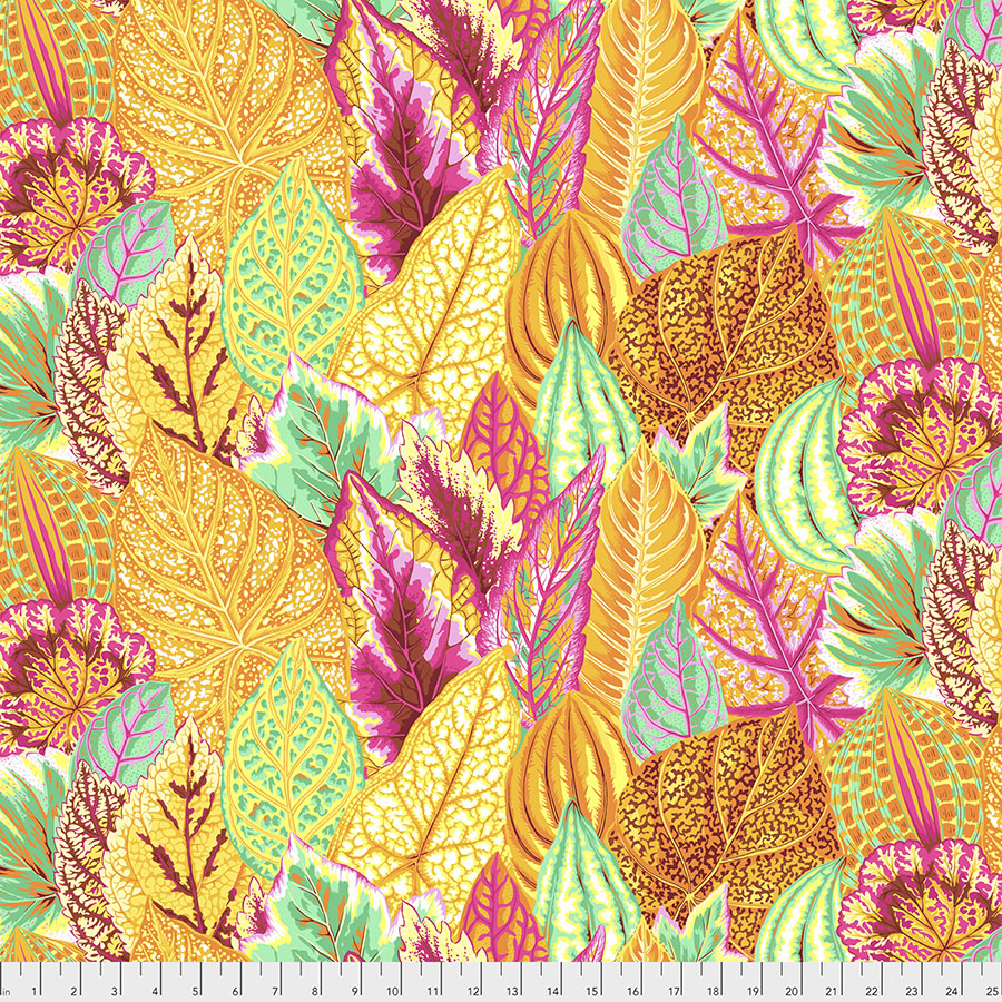 Kaffe Feb 2020 Collection coleus in yellow