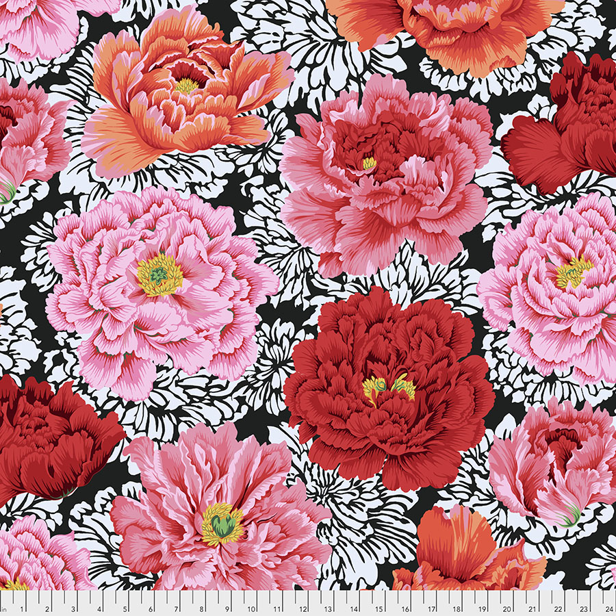 Philip Jacobs for the Kaffe Fassett Collective - Brocade Peony - Crimson