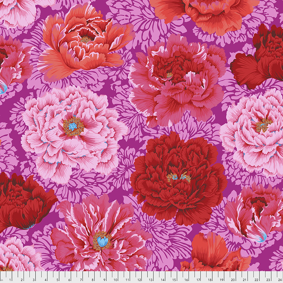 Brocade Peony - Hot by Philip Jacobs for the Kaffe Fassett Collective  PWPJ062.HOT