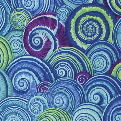 Spiral Shells - Blue<br/>FreeSpirit PJ073.BLUE