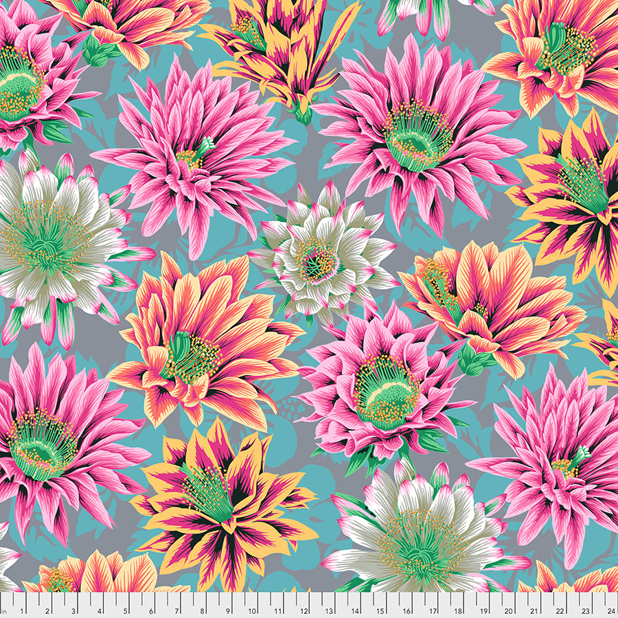 PWPJ096.TAWNY Tawny Cactus Flower Philip Jacobs for the Kaffe Fassett Collective