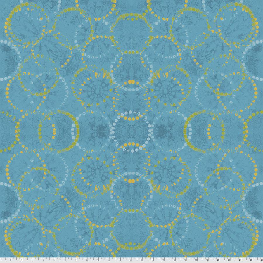 PWSP025.CERULEAN Rings Pizzazz Sue Penn FreeSpirit Fabrics