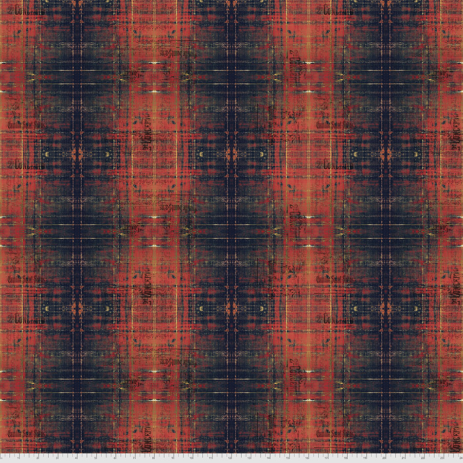 Free Spirit Tim Holtz Abandoned 2 Saint Concerto Rust Cotton Fabric