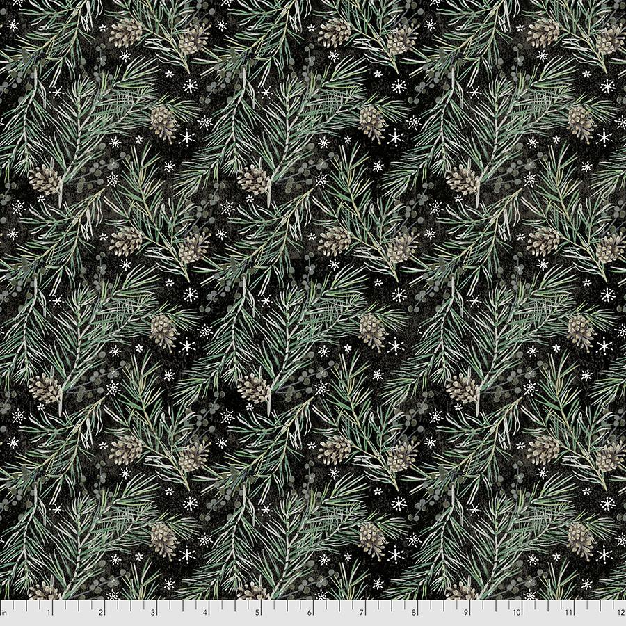 Tim Holtz Christmastime - Pine Boughs - Black