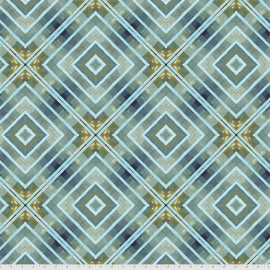 PWWR002.BLUE Intersection | Madison One Collection | William Reue for FreeSpirit Fabrics
