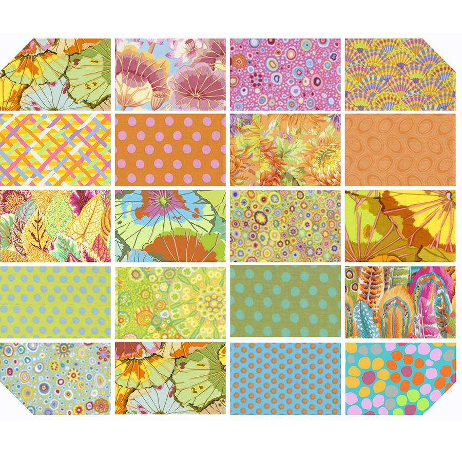 Parakeet CKaffe Fasset Classics / FQ Bundle  by Free Spirit Fabrics