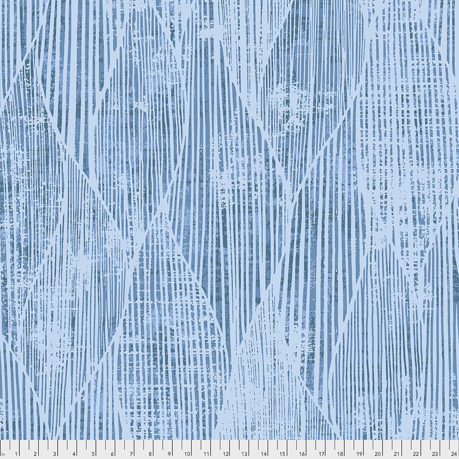 108 Frequency Blue Backing Fabric