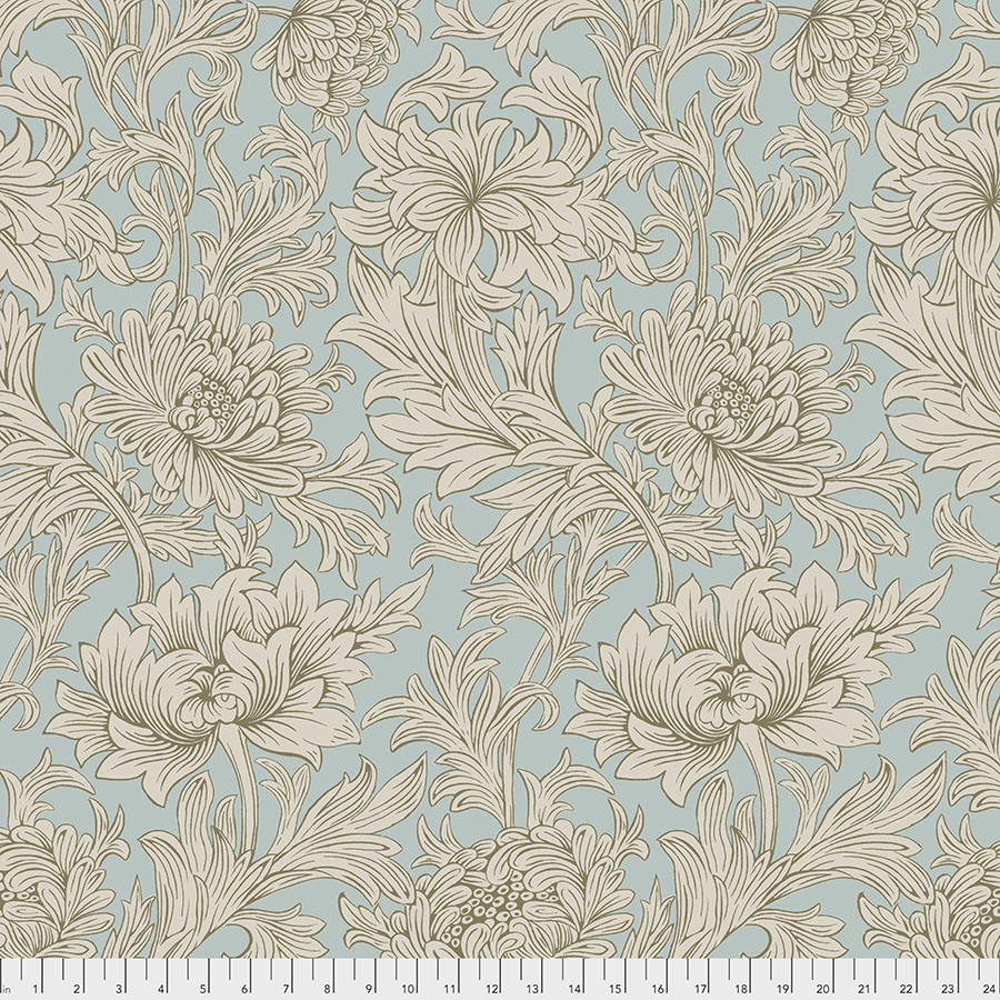 108 Wide Backing -Chrysanthemum Toile - Sky