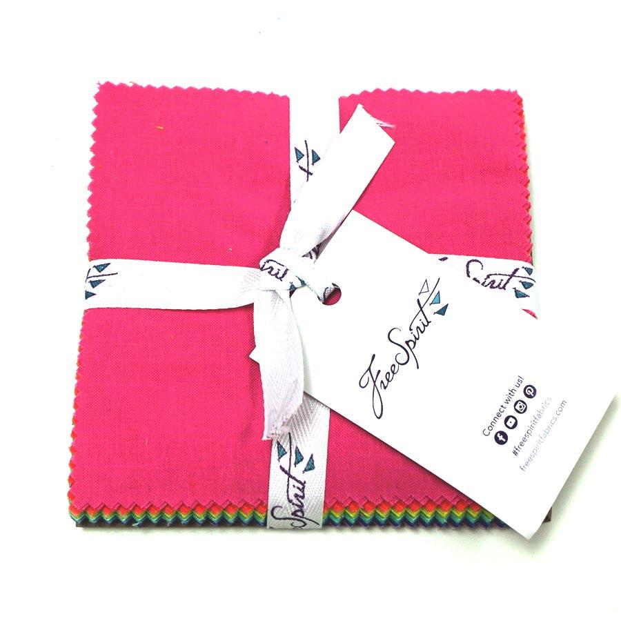 Designer Essentials-Tula Pink Solids- 5 Charm Pack