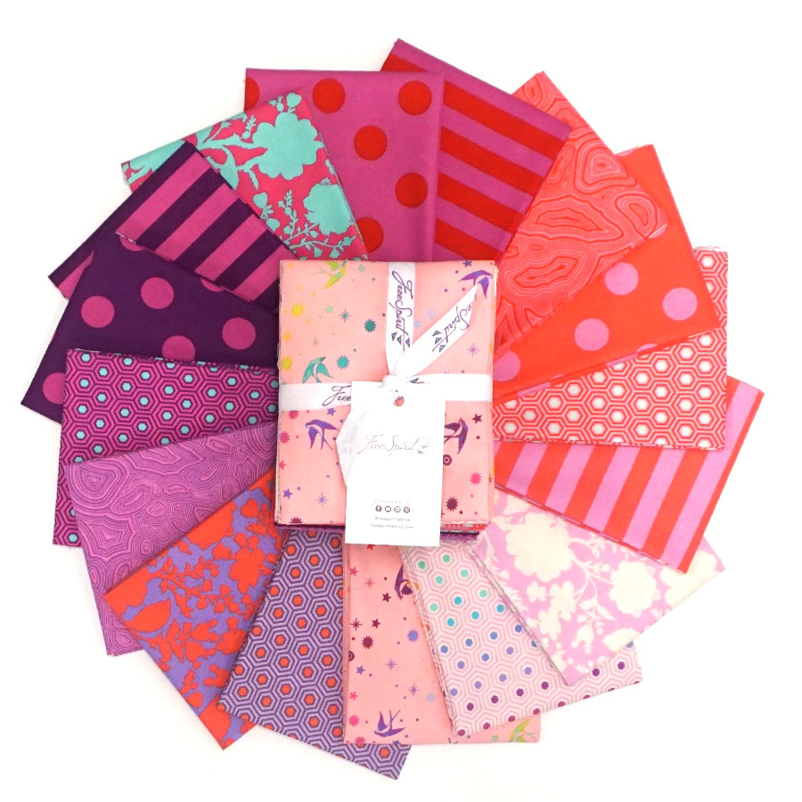 Tula's True Colors Flamingo - Fat Quarters Bundle