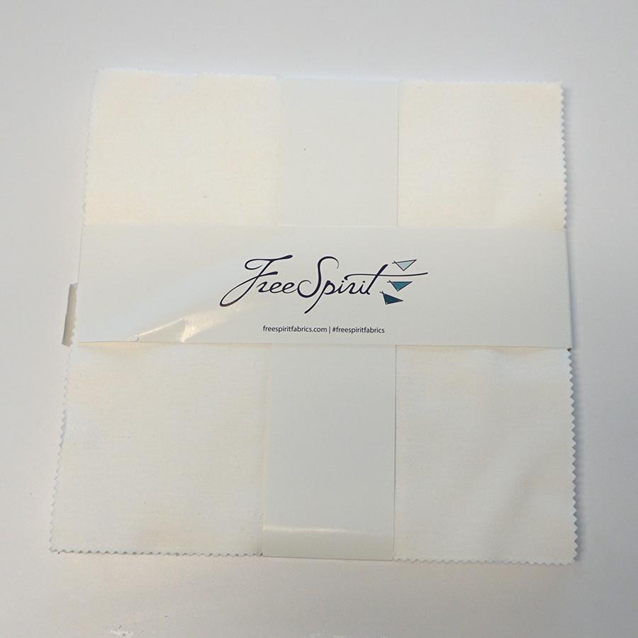 Free Spirit Designer Essentials Solids -Arctic White - 10 Charm Pack
