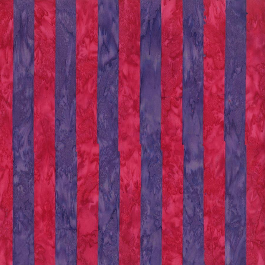 Kaffe Artisan Batik - Big Stripe - Red