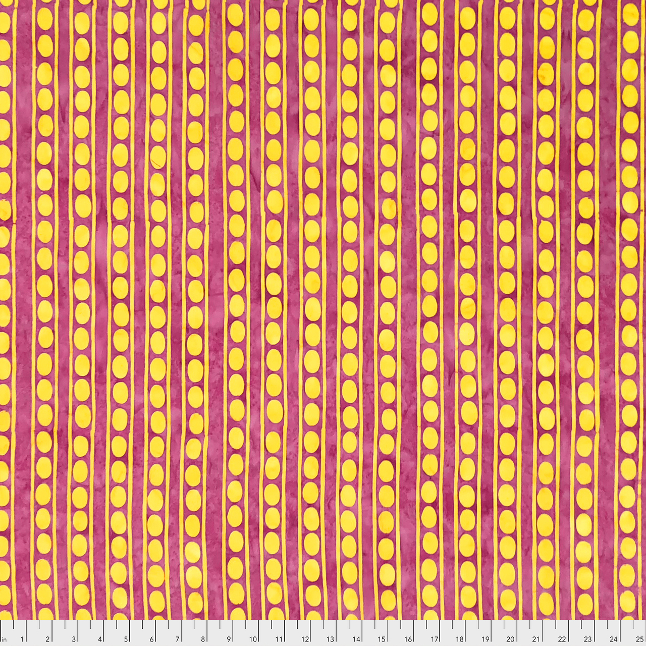 Yellow Peapods on Pink:  Batik by Kaffe Fasset for FreeSpirit Fabrics