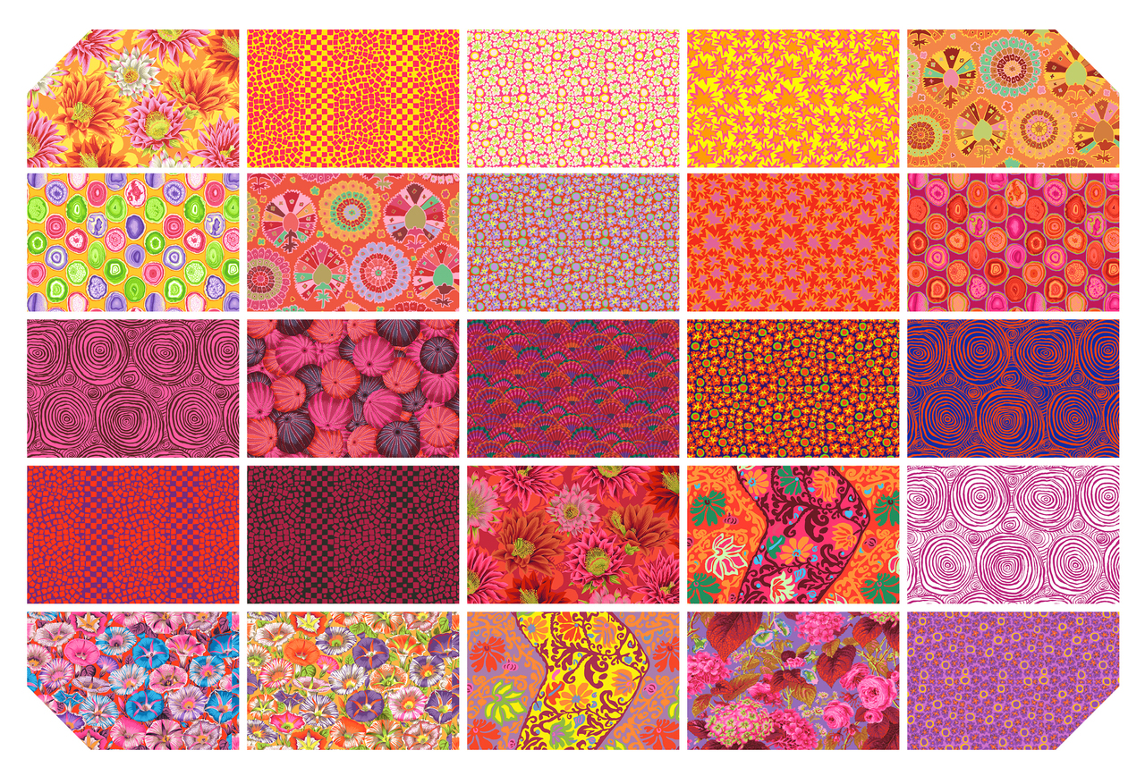 Kaffe Fassett Collective Spring 2019 - Bright -  5 Charm