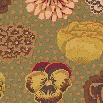 Free Spirit Fabrics Kaffe Classics - Big Blooms - Brown