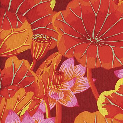 Kaffe Fassett Collective Lake Blossoms - Red
