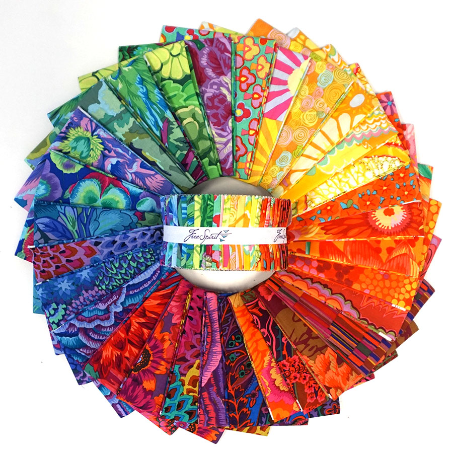CITRUS RAINBOW STASH DESIGN ROLL (40) 2-1/2 INCH STRIPS FB3DRGPSTASH2019 by Kaffe Fassett