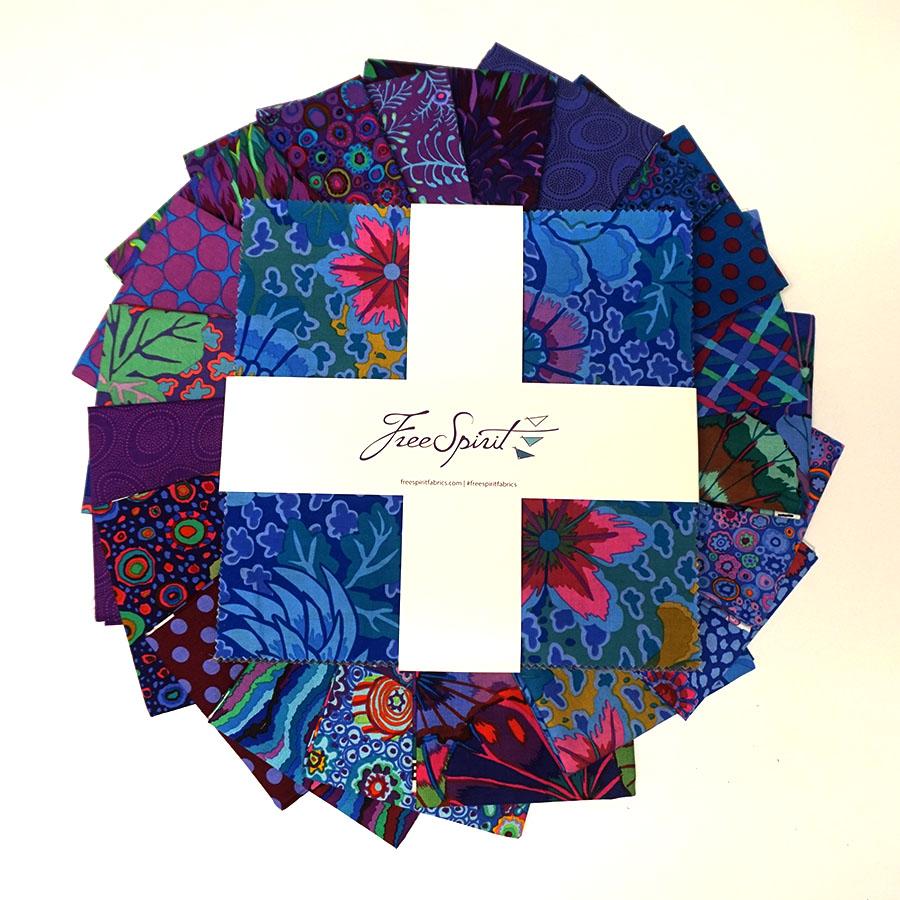 Kaffe Fassett Collective Classics - Peacock Layer Cake 42pc/bundle - by Free Spirit Fabrics
