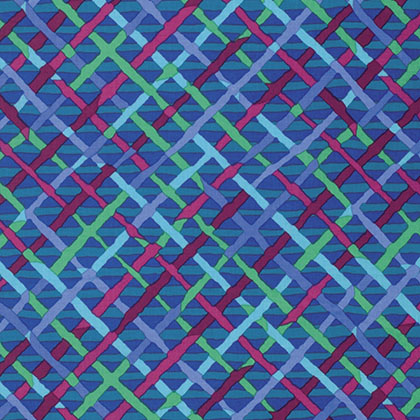 Kaffe Fassett Collective Mad Plaid - Cobalt