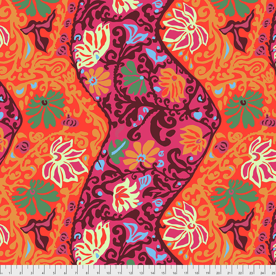 PWBM069 Bali Brocade - Red