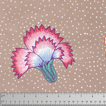 Corsage in Taupe by Kaffe Fassett for Rowan Fabric