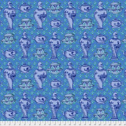 Kaffe Fassett Delft Pots - Blue