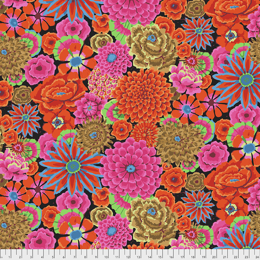 Kaffe Fasset Collective August 2020 - Enchanted, Magenta - by Kaffe Fasset Collective for Free Spirit Fabrics