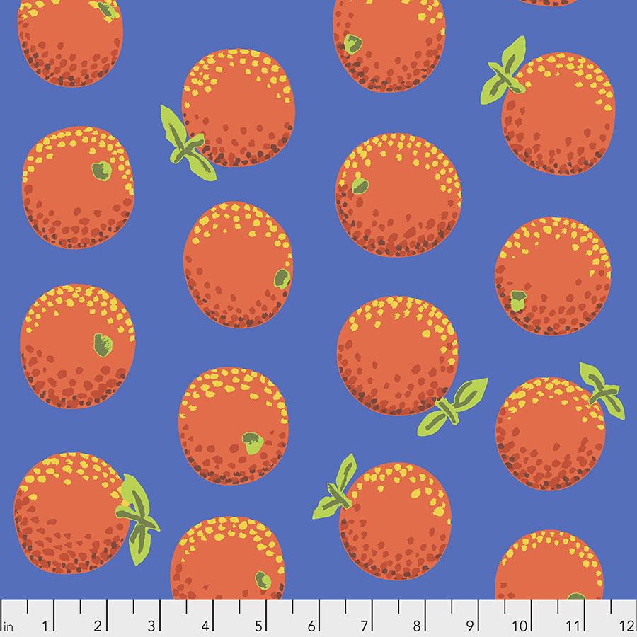 PWGP177 Orange Oranges by Kaffe Fassett for Free Spirit Fabrics. 100% cotton 43 wide